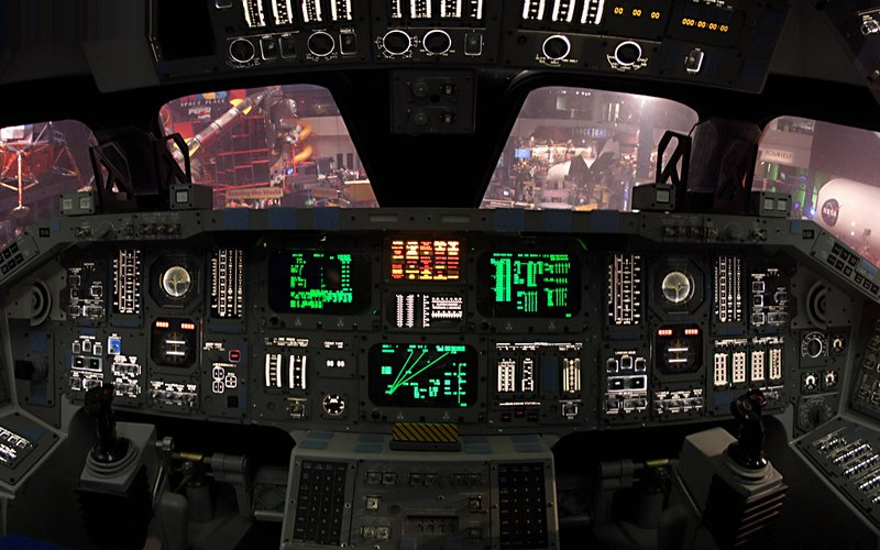 NASA NSA Space Shuttle Cockpit