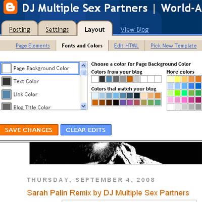 customizing blogger layouts