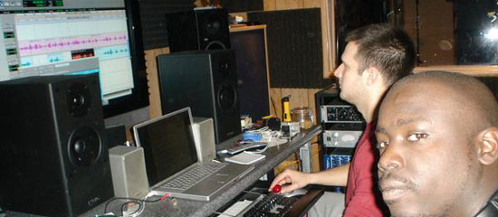 Krukid in the Studio