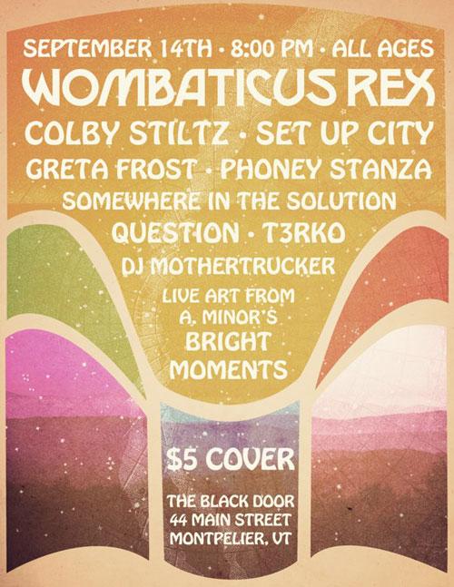Wombaticus Rex @ The Black Door, Montpelier Vermont